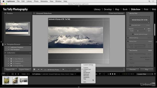 Add and use titles and captions: Lightroom: Customizing Tips and Techniques
