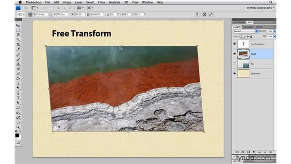 Skewing transformations: Photoshop CS4 Power Shortcuts