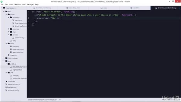 End2End testing two controllers: Learning AngularJS Testing