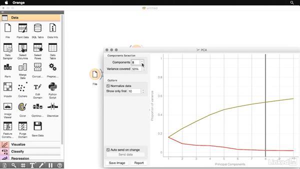 Data reduction in Orange: Data Science Foundations: Data Mining
