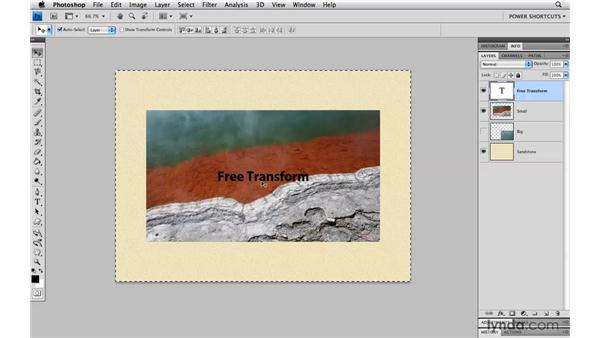 Aligning a layer to the center of a document: Photoshop CS4 Power Shortcuts