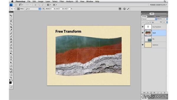 Warp transformations: Photoshop CS4 Power Shortcuts