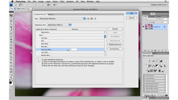 Assigning shortcuts to your favorite filters: Photoshop CS4 Power Shortcuts