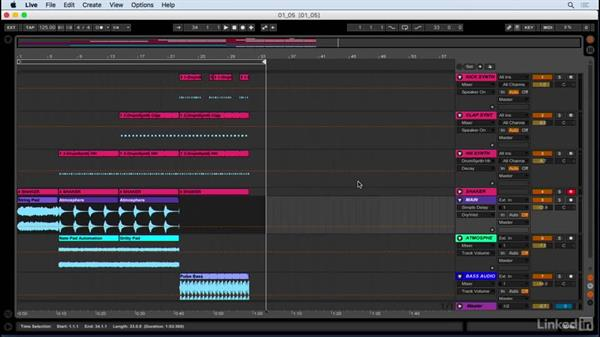 Exporting and saving your project: Producing Electronic Music in Ableton Live
