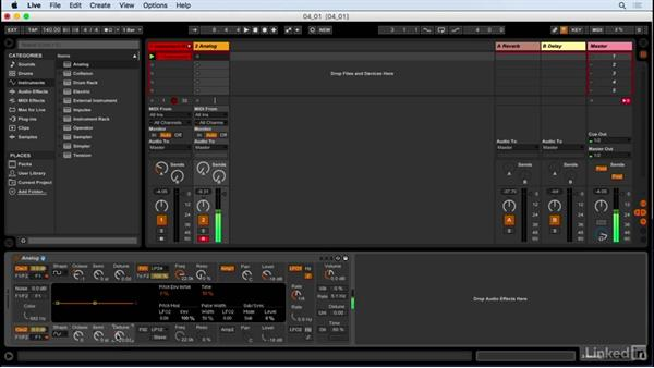 Creating wobble bass lines with Analog: Producing Electronic Music in Ableton Live