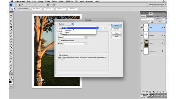 Format multiple files with a template and variables: Photoshop CS4 Power Shortcuts