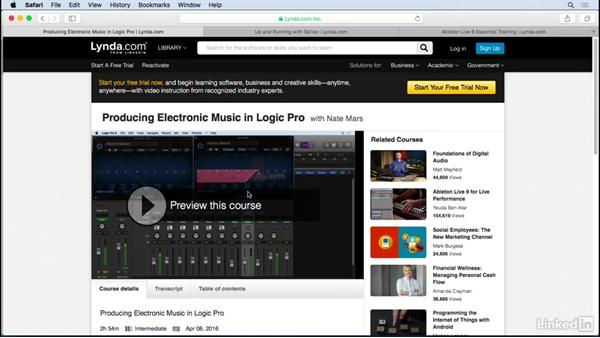 Next steps and further training: Producing Electronic Music in Ableton Live