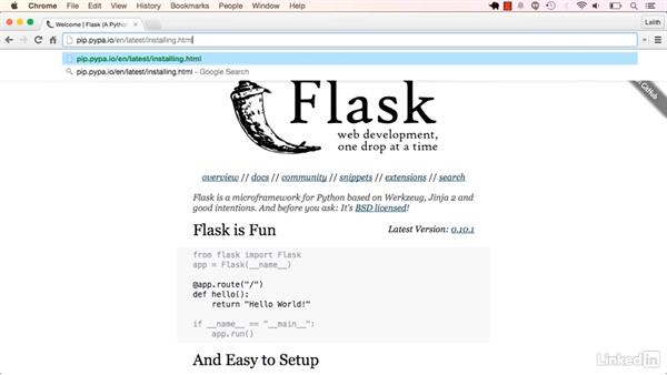 Flask: Learning Flask
