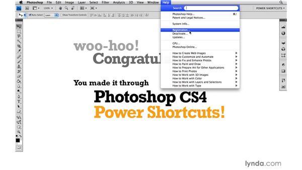 Goodbye: Photoshop CS4 Power Shortcuts