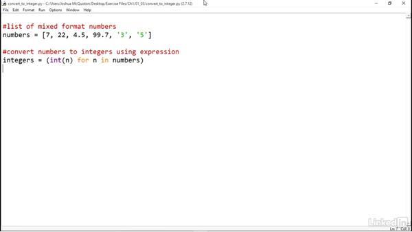 Use a generator expression: Python Generators