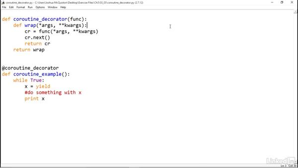 Build a @coroutine decorator: Python Generators