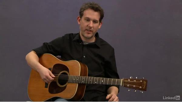 Picking pattern: Exercise 1: Acoustic Guitar Lessons with Bryan Sutton: 1 Picking, Fretting, and Chords
