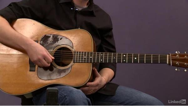 Picking pattern: Exercise 3: Acoustic Guitar Lessons with Bryan Sutton: 1 Picking, Fretting, and Chords