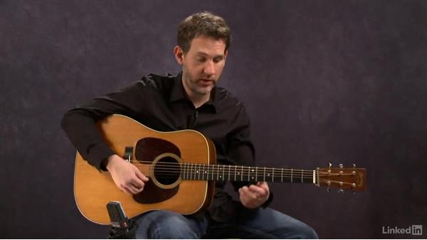 """The """"boom chuck"""" sound: Part 2: Acoustic Guitar Lessons with Bryan Sutton: 1 Picking, Fretting, and Chords"""