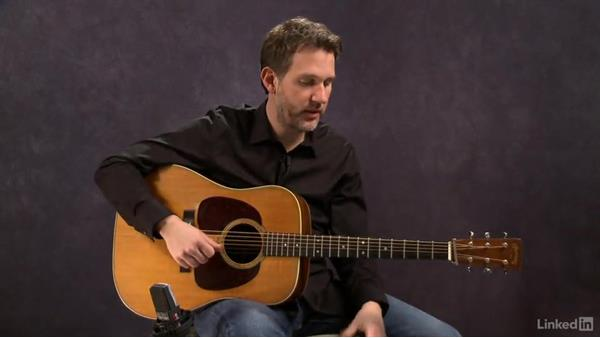 Changing chords in rhythm: Exercise 1: Acoustic Guitar Lessons with Bryan Sutton: 1 Picking, Fretting, and Chords