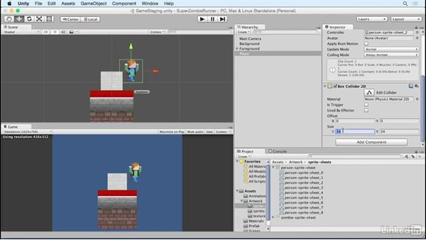 Build the player: Unity 5 2D Essential Training