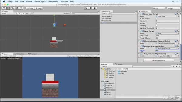 Recycle player: Unity 5 2D Essential Training