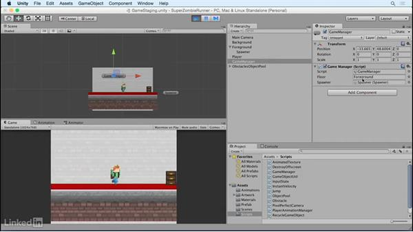 Start the game: Unity 5 2D Essential Training