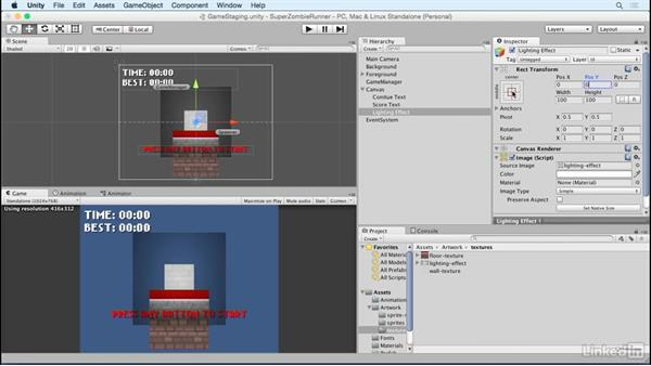 Add text: Unity 5 2D Essential Training