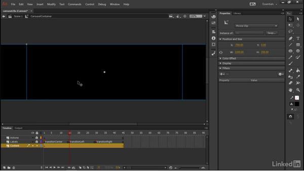 Applying carousel animations: Learn Adobe Animate CC: Data-Driven Animation