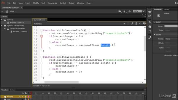 Programming user controls: Learn Adobe Animate CC: Data-Driven Animation