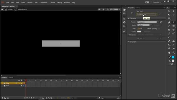 Using text within the item renderer: Learn Adobe Animate CC: Data-Driven Animation