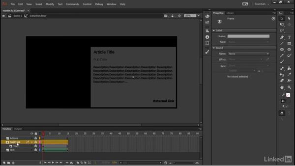 Animating the details renderer: Learn Adobe Animate CC: Data-Driven Animation