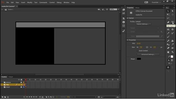 Completing the layout: Learn Adobe Animate CC: Data-Driven Animation