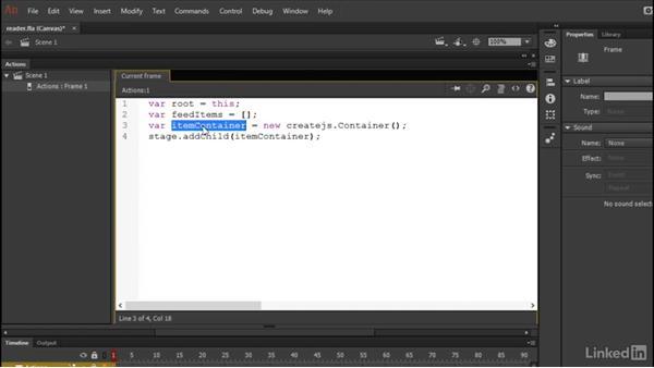 Preparing the project: Learn Adobe Animate CC: Data-Driven Animation