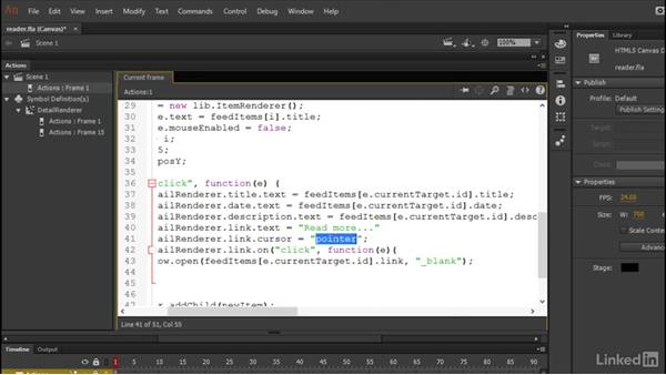 Viewing the item details: Learn Adobe Animate CC: Data-Driven Animation