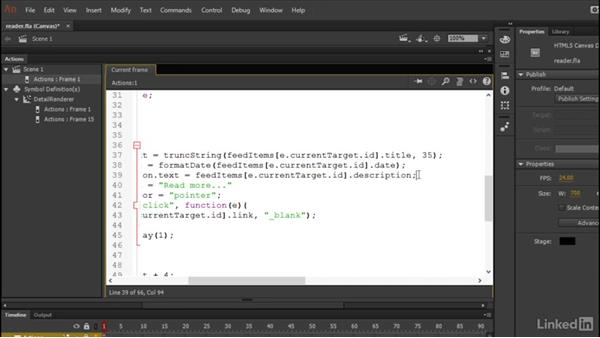 Formatting the data: Learn Adobe Animate CC: Data-Driven Animation