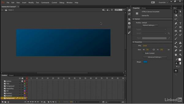 Drawing the background: Learn Adobe Animate CC: Interactive Animation