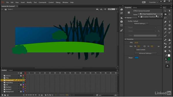 Building the bushes: Learn Adobe Animate CC: Interactive Animation