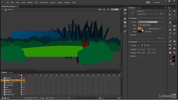 Creating titles: Learn Adobe Animate CC: Interactive Animation