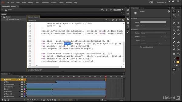 Attracting the bug's eyes: Learn Adobe Animate CC: Interactive Animation