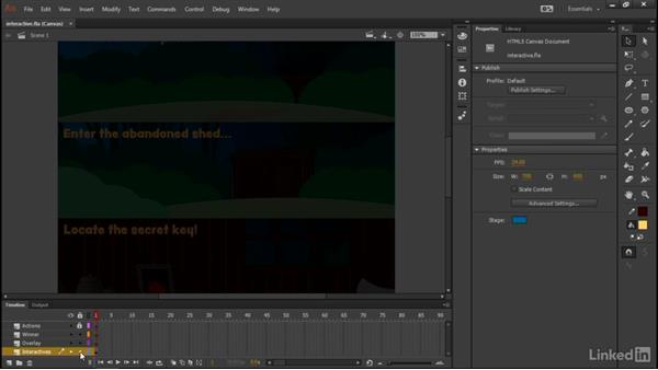 Assembling the states and panels: Learn Adobe Animate CC: Interactive Animation