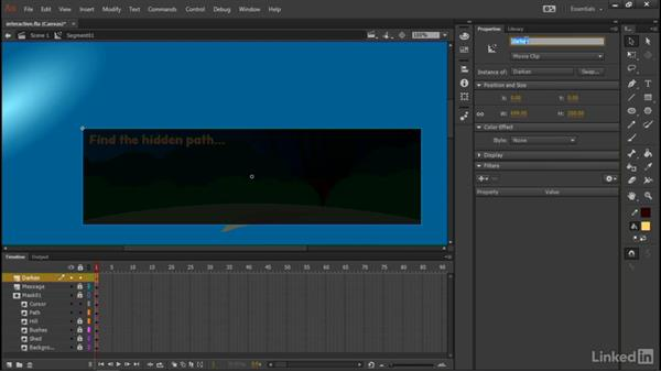 Examining the project structure: Learn Adobe Animate CC: Interactive Animation