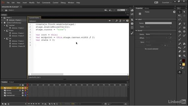 Initializing the project: Learn Adobe Animate CC: Interactive Animation