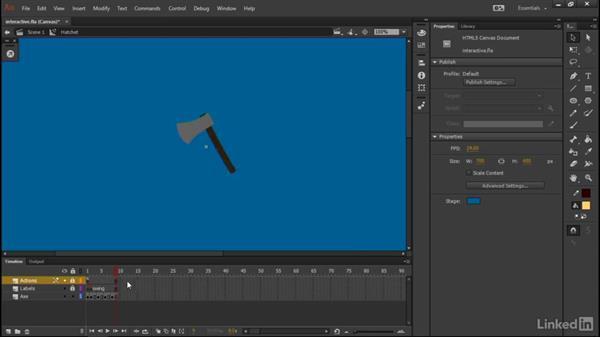 Acquiring the axe: Learn Adobe Animate CC: Interactive Animation