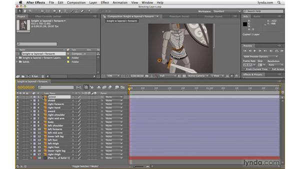 Two methods for selecting layers quickly: After Effects CS4 Beyond the Basics