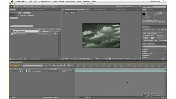Finding a lost CTI: After Effects CS4 Beyond the Basics