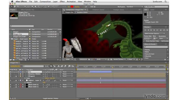Jumping to the in/out point of layers: After Effects CS4 Beyond the Basics