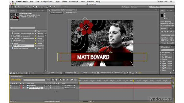 Cleaning up the Timeline panel: After Effects CS4 Beyond the Basics