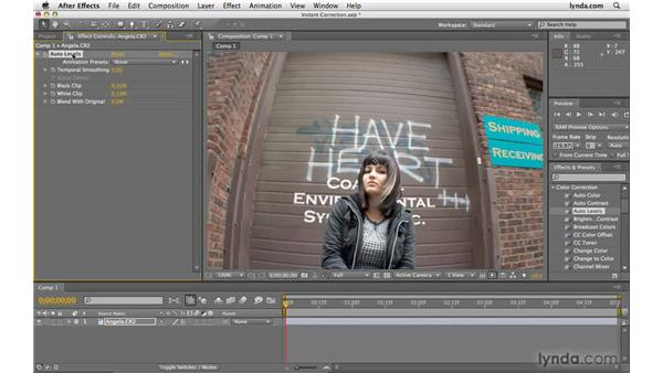 Performing instant color correction: After Effects CS4 Beyond the Basics