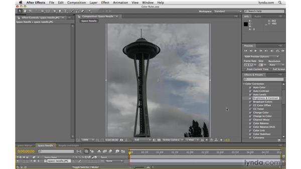 """A few """"rules"""" about color correction: After Effects CS4 Beyond the Basics"""
