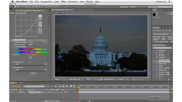 "Creating a ""day for night"" effect: After Effects CS4 Beyond the Basics"