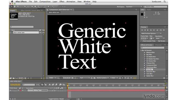 Using HDR/32-bit float point color: After Effects CS4 Beyond the Basics