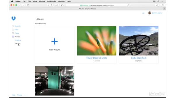 Create and share albums: Dropbox for Photographers