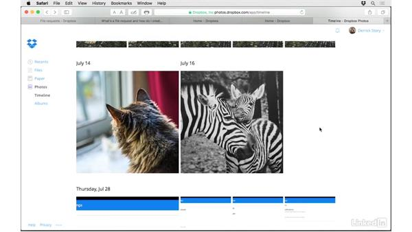 Hide pictures from the Timeline: Dropbox for Photographers
