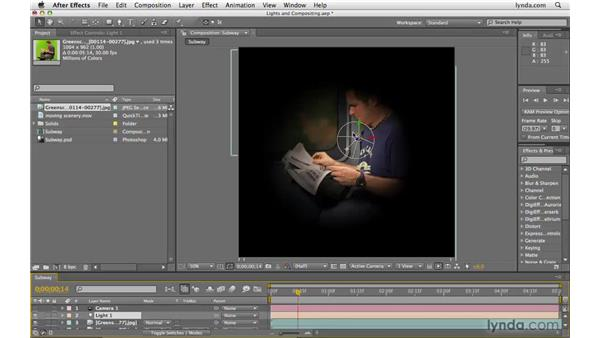 Using lights to aid compositing: After Effects CS4 Beyond the Basics